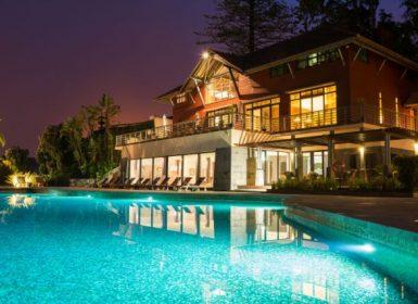 Choupana Hills@viagensa4_ vista noite piscina
